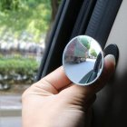 HD 360 Degree Wide Angle Adjustable Car Rear View Convex Mirror Auto Rearview Mirror Vehicle Blind Spot Rimless Mirrors