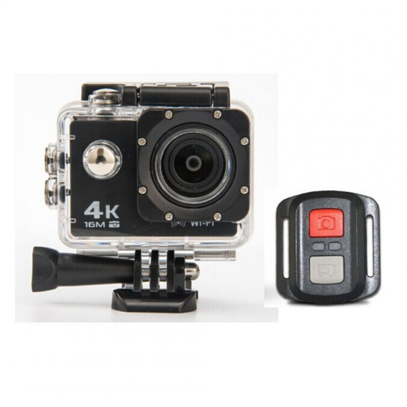 HD 4K WIFI Action Camera Black