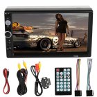 HD 7  Double 2Din Bluetooth Car Stereo Radio FM MP5 Player Touch Screen In Dash black