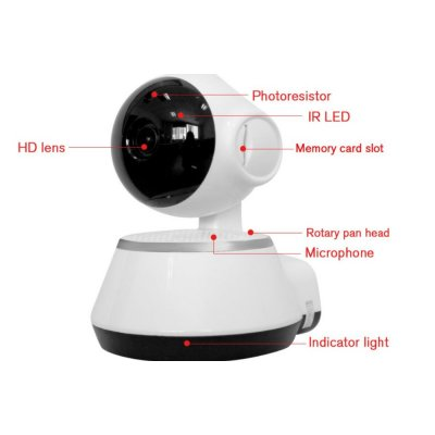 V380 Mini Wifi Security Camera EU Plug