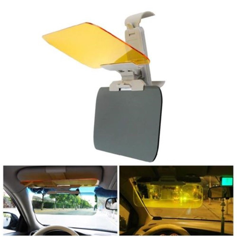 HD Car Anti-Glare & Dazzling Goggle Sunvisor Day Night Vision Driving Sun Visors Glasses As shown