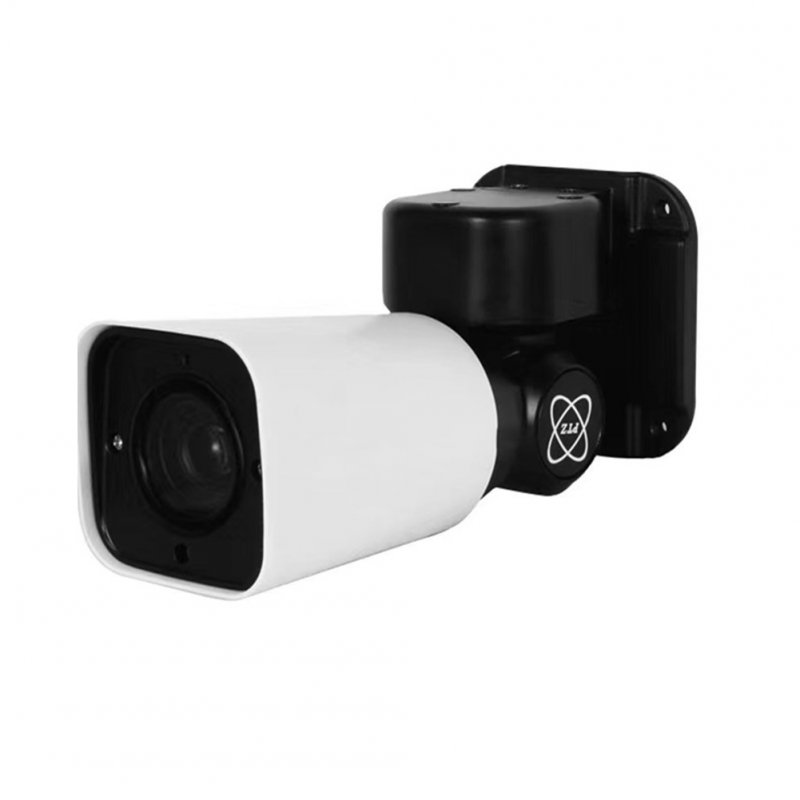 HD Mini PTZ IP Camera Outdoor 4X Optical Zoom Camera IR Night Vision Video Recorder white