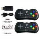 HD TV Video Game Console Built-in 638 Games Dual Players Infrared Connection Wireless Controller black