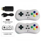 HD TV Video Game Console Built in 638 Games Dual Players Infrared Connection Wireless Controller gray