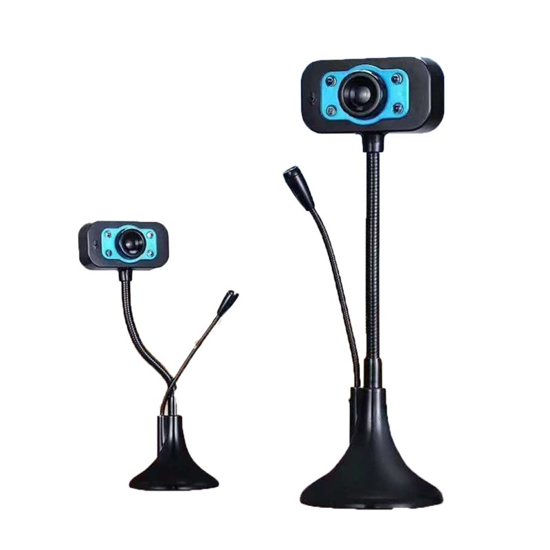HD Webcam USB Web Camera With Noise Cancelling Microphone 360 Degree Rotation Webcam blue