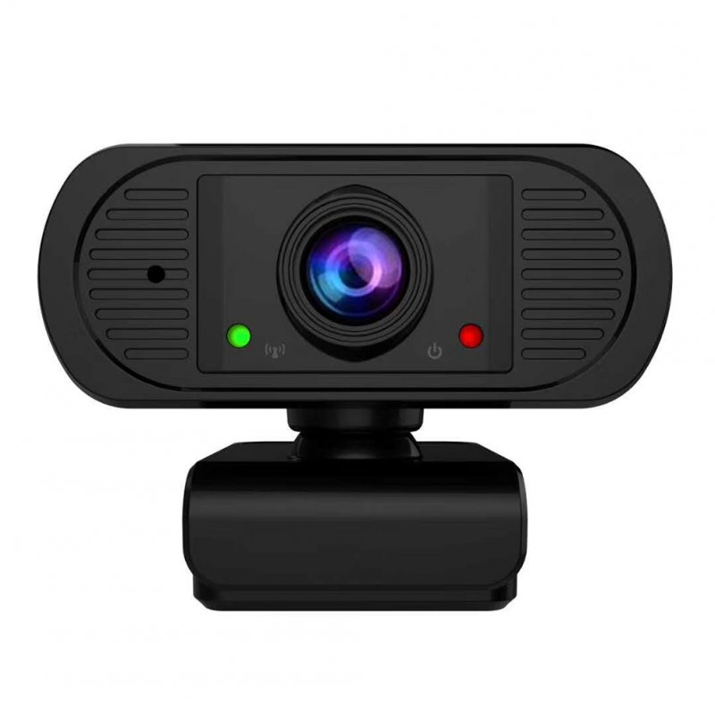 HD Webcam With Microphone USB Driver Free Web Camera For Windows Android Linux black