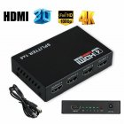 HDMI Splitter 3d 1080p HDCP 1 4 Output Power Signal Amplifier HDMI Adapter U.S. Plug