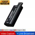 HDMI Video Capture Card Supports OBS Live Recording Box HDMI to USB2.0 Adapter card black