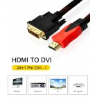 HDMI to DVI 24+1 Pin Adapter Cables Male to Male Adapter Video Cable 1080P 3D HDMI Cable for LCD DVD HDTV XBOX