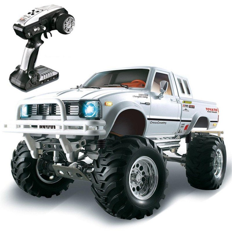 HG P407 1/10 2.4G 4WD Rally Rc Car for TOYATO Metal 4X4 Pickup Truck Rock Crawler RTR Toy  white