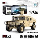 HG-P408 1/10 Truck Simulation Car RC Car Professional Remote Control Car Desert yellow_light and sound