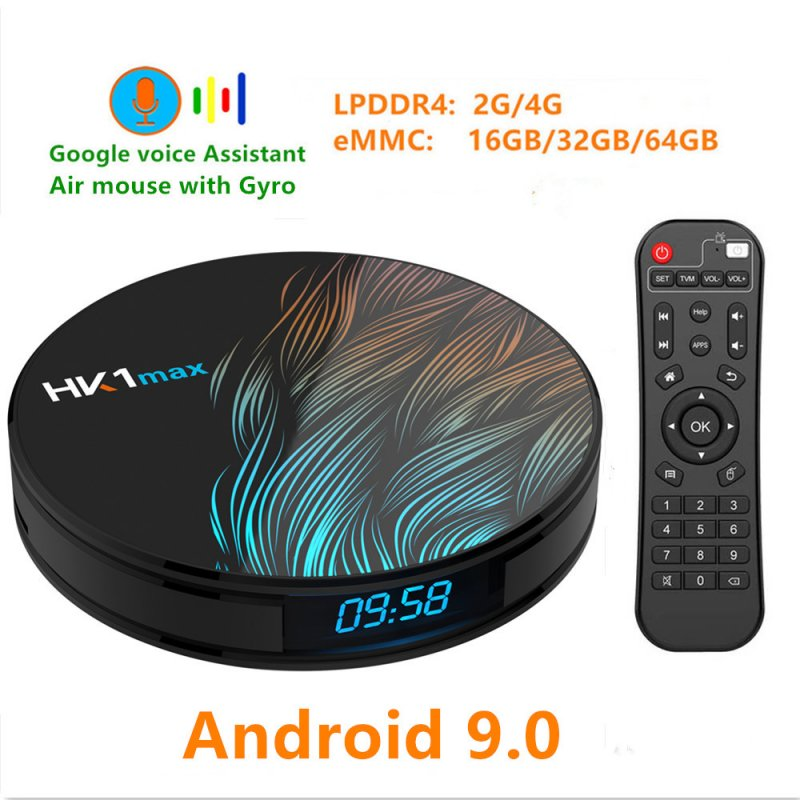 HK1 Max TV Box - 4G + 64G, UK Plug