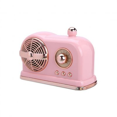 HM10 Retro Bluetooth Subwoofer Hot Hatch Wireless Locomotive Mini Speaker Pink_Standard