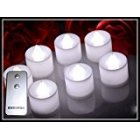HOSSEN   24pcs Glow Candles Wedding Decoration LED Candles With a Remote control  white light