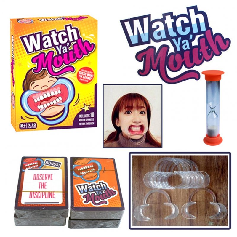 [US Direct] HOT Funny Family Edition Hilarious Mouth Guard Mouth Opener for Fun Speaking Out Game Family Game Party Game