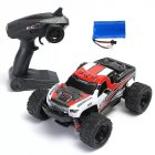 HS 18301/18302 1/18 2.4G 4WD 40 + MPH High Speed Big Foot RC Racing Car OFF-Road Vehicle Toys  red 1 battery