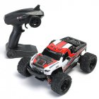 HS 18301/18302 1/18 2.4G 4WD High Speed Big Foot RC Racing Car OFF-Road Vehicle Toys red