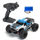 HS 18301/18302 1/18 2.4G 4WD 40 + MPH High Speed Big Foot RC Racing Car OFF-Road Vehicle Toys  blue 1 battery