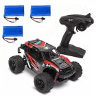 HS 18311/18312 1/18 40+MPH 2.4G 4CH 4WD High Speed Climber Crawler RC Car Toys red_Three battery