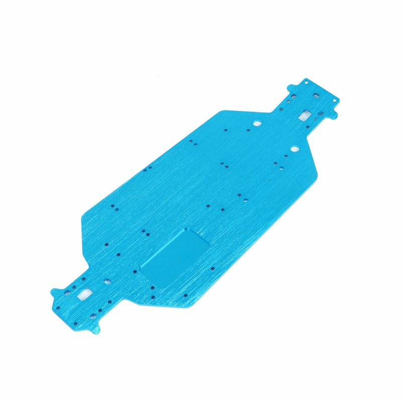HSP 03001 03602 Aluminum Alloy Metal Chassis 3MM Thickness 1/10 Upgrade Parts for Flying Fish 94103 94123 blue