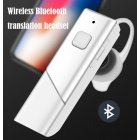 HT20 Smart Voice Translator Wireless Headset Bluetooth5.0 Earphone Multi Languages Instant Real-time Translation white