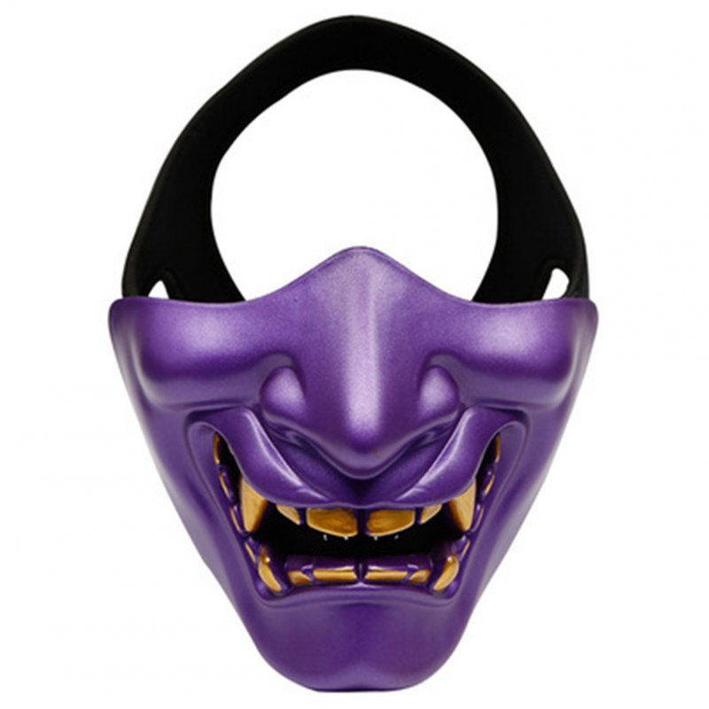 Half Face Mask Lower Face Protective Mask for Airsoft/Paintball/CS Game for Halloween Cosplay Costume Party Movie Prop purple