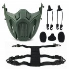 Half Face Mask Protective Mask Outdoor Game Mask ArmyGreen_One size