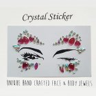 Halloween 3D Face Tattoo Crystal Stickers Party Eye Makeup