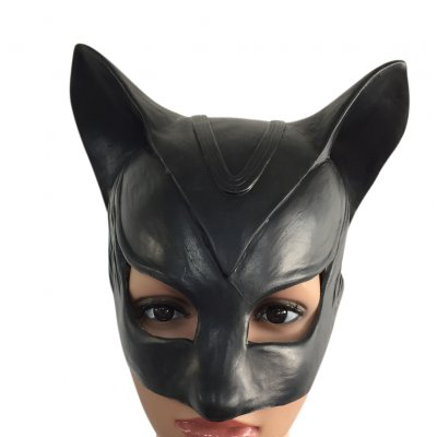 Halloween Black Demon Cat Mask