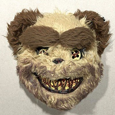 Halloween Bloody Animal Mask Horror Mask Cosplay Party Scary Mask Yellow bear mask