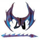 Halloween Carnival Kids Dress Up Toy Dragon Wings Tail Set Child blue purple wings tail