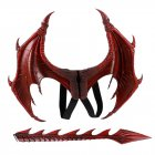 Halloween Carnival Kids Dress Up Toy Dragon Wings Tail Set Child red wings tail