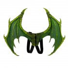 Halloween Carnival Kids Dress Up Toy Devil Wings for Children Green foam single wings