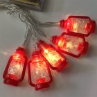 Halloween Christmas LED Kerosene Lamp LED Party Lamp for Decor Battery Power Supply Red kerosene lamp