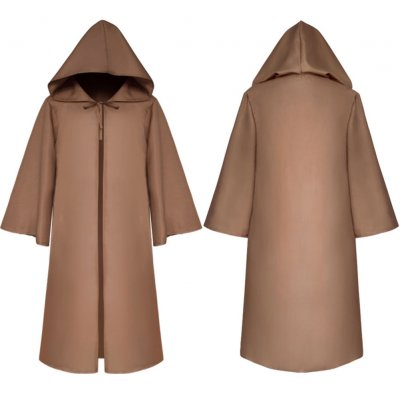 Halloween Clothing Death Cloak The Medieval Times Cloak Adult Children Goods Star Wars Cloak [Brown]_Adult L