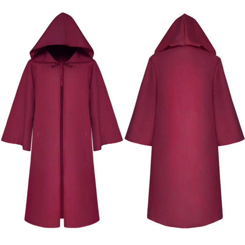 Halloween Clothing Death Cloak The Medieval Times Cloak Adult Children Goods Star Wars Cloak [Zaohong]_Adult L