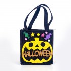 Halloween Decoration Cloth Art Cartoon Children Candy Bags Trick or Treat Candy Hand Basket A black