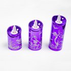 Halloween Decoration Creative Halloween Simulation Candle Light for Home Party Bar Atmosphere Lamp Candle purple small