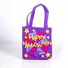 Halloween Decorations,Halloween Candy Felt Holder Bag, Cartoon Gift Hand Bag,Halloween Lovely Trick or Treating Bag C purple