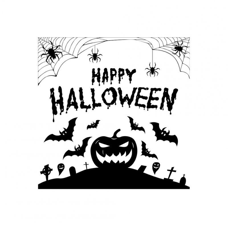 Halloween English Wall Sticker DIY Room Wall Decals Home Party Decor AFH2102