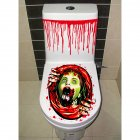 Halloween Gruesome Bathroom Toilet Seat Lid and Cistern Sticker Close stool Cover Party Decoration