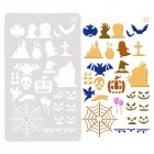 Halloween Kids Hollow Out DIY Hand Painting Template Craft Card Graffiti Making Toy white