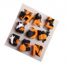 Halloween Letters Shape Baking Silicone Mold Party Fondant Cake Decorating Tool gray