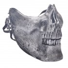 Halloween Masquerade Party Cosplay Fancy Chieftain Skull Half Face Mask for Adult Women and Men