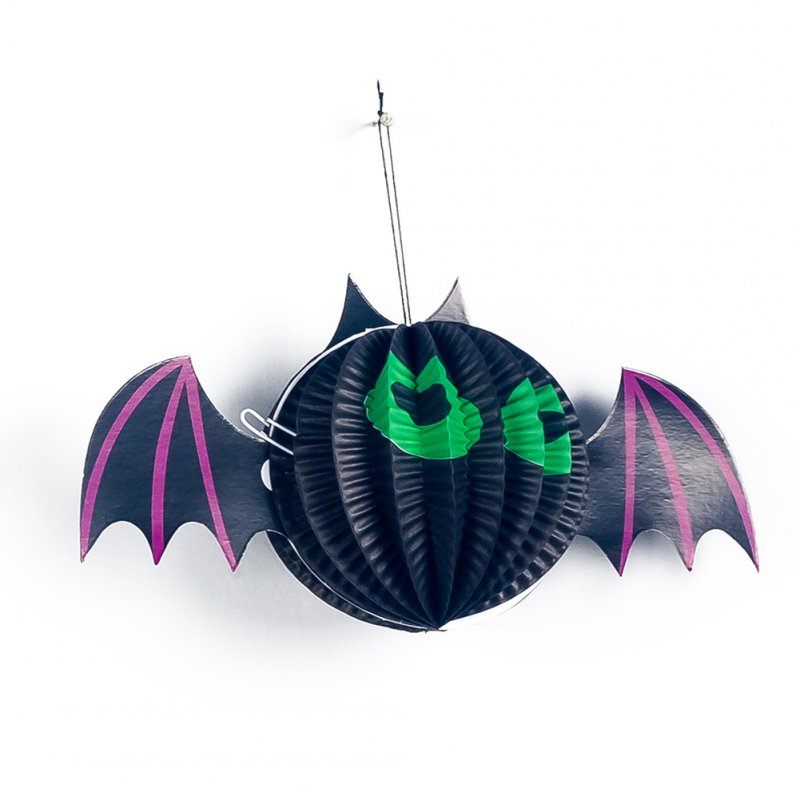 Halloween Paper Spider Pumpkin Shaped Paper Lantern Pendants Halloween Party Decoration Bat
