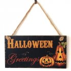 Halloween Plaque Hanging Board Wooden Craft Carnival Night Ghost Festival Decor