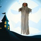 Halloween Pumpkin Hanging Ghost Voice Control Decorative Lamp for Party Tricky Toy Supplies Lighted with sound