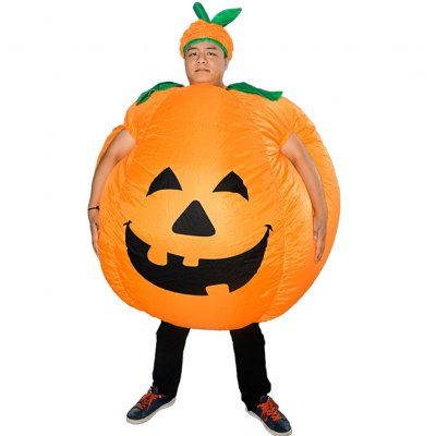 Halloween Pumpkin Inflatable Costume Party Cosplay Tools Pumpkin color_Adult