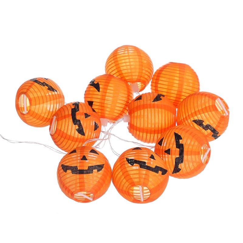 Halloween Pumpkin Lantern Horrible Face LED Light Strings Festival Decor 6LED warm white