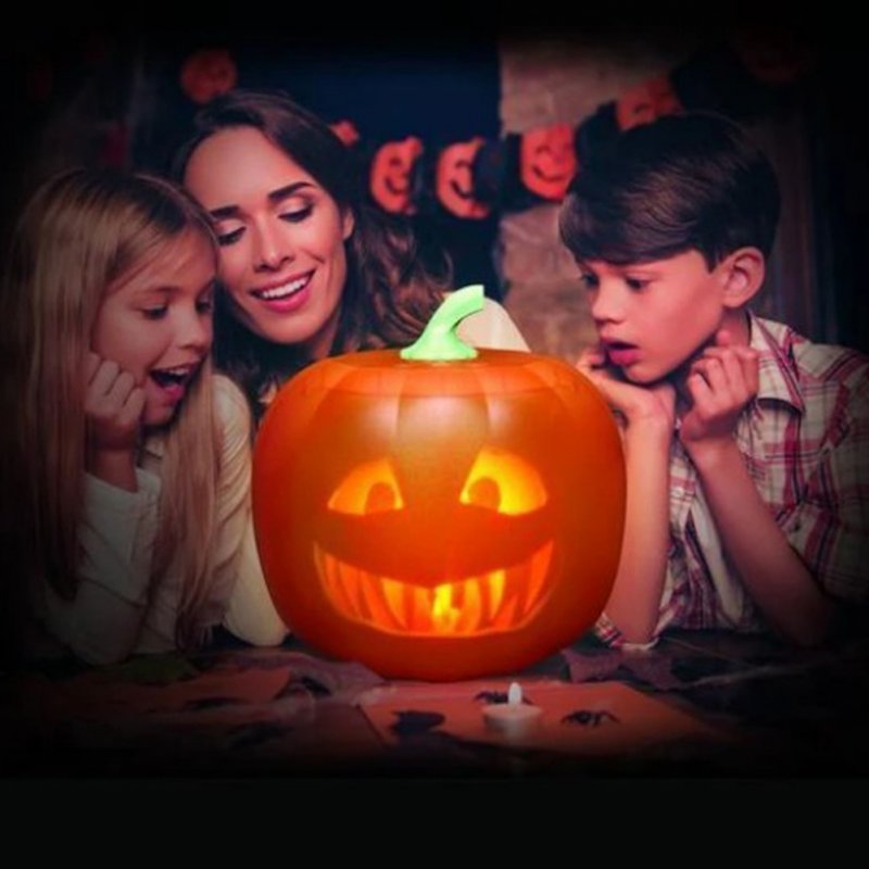 Halloween Pumpkin Projection Lamp Talking Animated Pumpkin Light Party Decoration American plug
